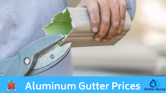 aluminum gutter costs