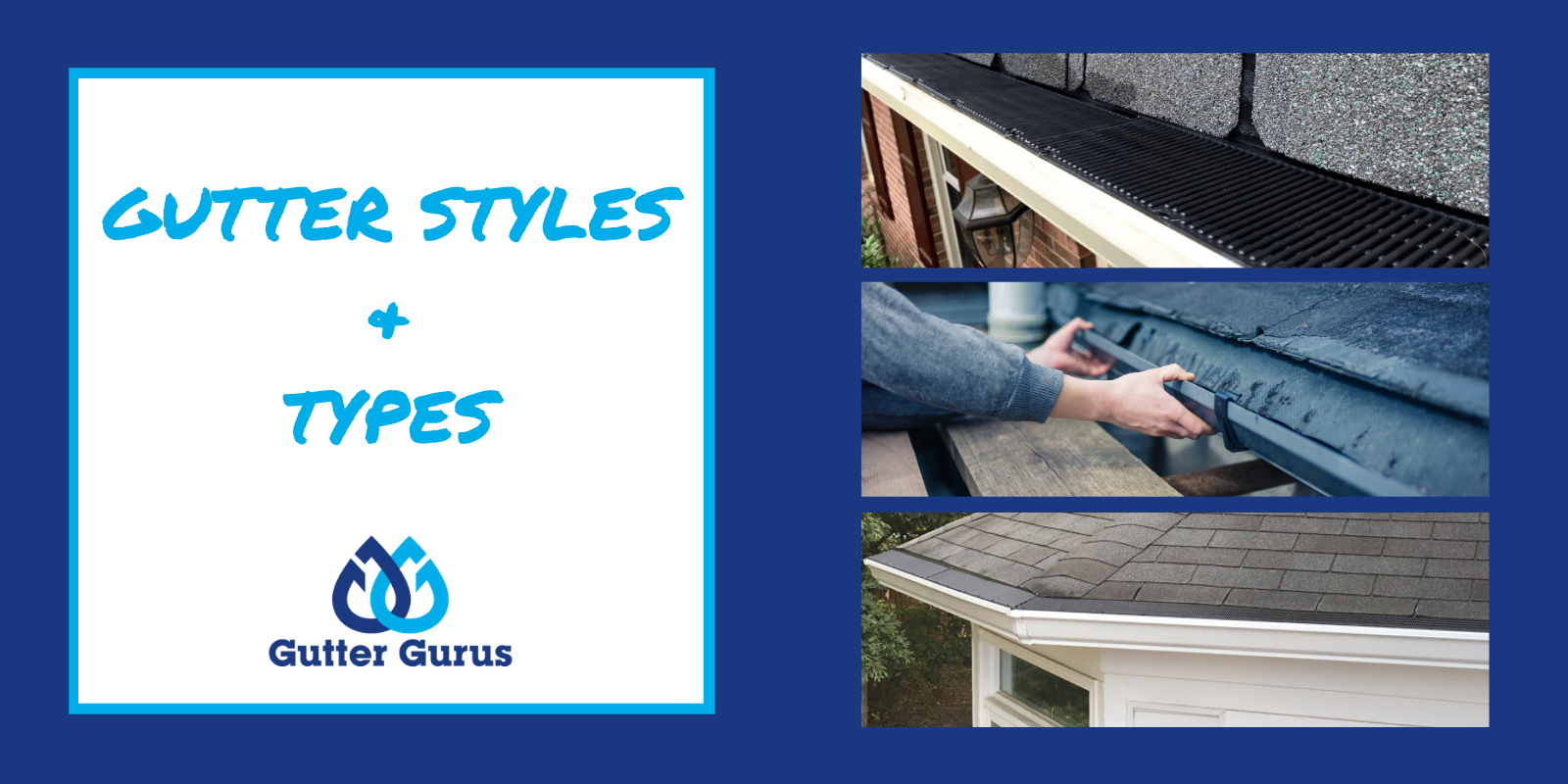 gutter styles and sizes